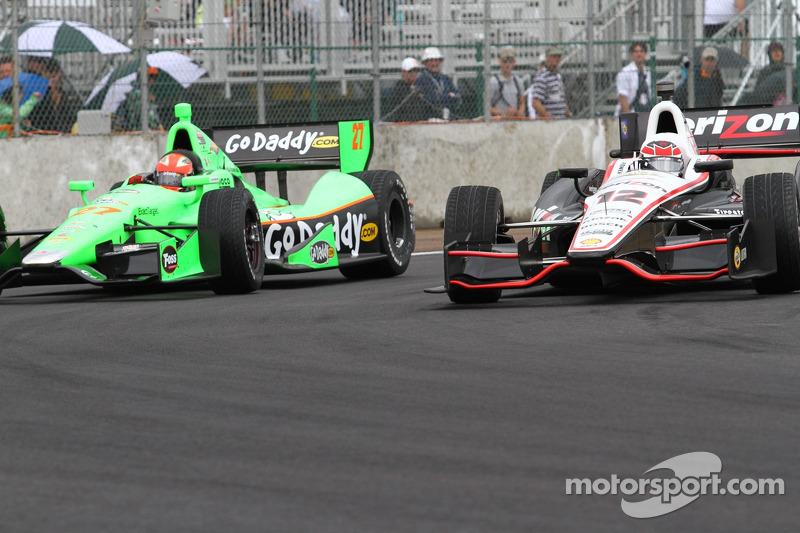 James Hinchcliffe, Andretti Autosport Chevrolet and Will Power, Verizon Team Penske Chevrolet