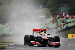Lewis Hamilton, McLaren in de regen