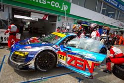 Pitstop practice for #21 Hitotsuyama Racing Audi R8 LMS: Cyndie Allemann, Akihiro Tsuzuki