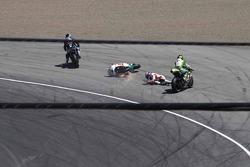 Michele Pirro, Honda Gresini goes down