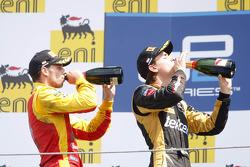 Podium: race winner Esteban Gutierrez, second place Nathanael Berthon