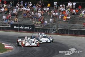 #6 Muscle Milk Pickett Racing HPD ARX-03a Honda: Lucas Luhr, Klaus Graf #16 Dyson Racing Team Inc. Lola B12/60 Mazda: Chris Dyson, Guy Smith
