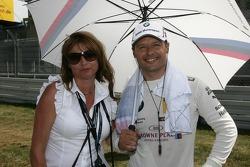 Andy Priaulx, BMW Team RBM BMW M3 DTM with his wife