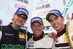 Podium: third place Jochen Krumbach, Timo Bernhard, Patrick Pilet