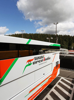 Sahara Force India F1 Team truck in the paddock