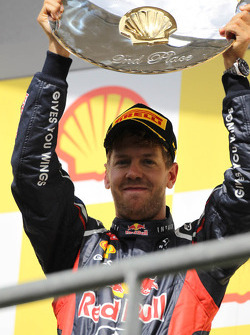 2de plaats Sebastian Vettel, Red Bull Racing