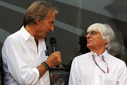 Luca di Montezemolo, Ferrari President with Bernie Ecclestone, CEO Formula One Group