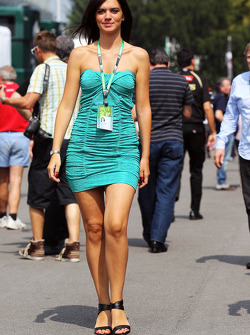 Paddock security girl