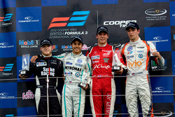 Podium from left: Spike Goddard, Jazeman Jaafar, Alex Lynn and Harry Ticknell