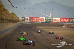 IndyCar action on Auto Club Speedway