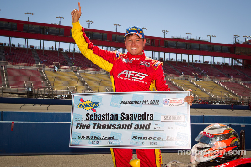 Pole winner Sebastian Saavedra, AFS Racing