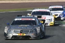 Christian Vietoris, Team HWA AMG Mercedes, AMG Mercedes C-Coupe  leads Timo Scheider, Audi Sport Team ABT Sportsline Audi A5 DTM