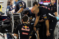 Adrian Newey, Red Bull Racing Chief Technical Officer takes a look at the Red Bull Racing brakes