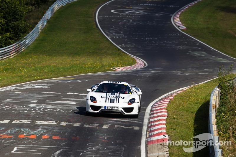 Porsche 918 auf der Nordschleife
