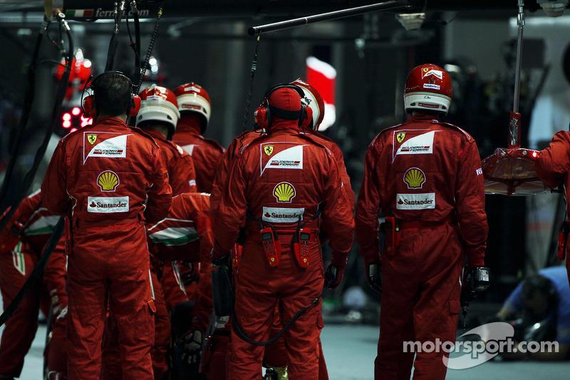 Ferrari wacht voor pitstop