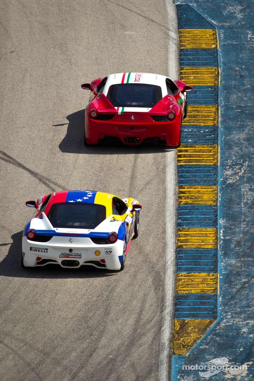 #64 Ferrari of Ft Lauderdale 458CS: Frank Fusillo, #59 Ferrari of Ft Lauderdale 458CS: Maurizio Scala