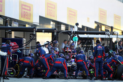 Daniel Ricciardo, Scuderia Toro Rosso makes a pit stop