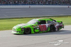 Dale Earnhardt Jr., Hendrick Motorsports Chevrolet limps to the finish