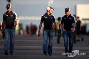 Bruno Senna, Williams F1 Team, Pastor Maldonado, Williams F1 Team and Valtteri Bottas, Williams F1 Team