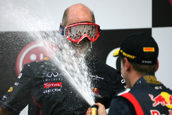 Podium: Adrian Newey, Red Bull Racing technical director