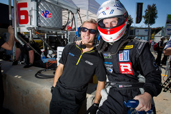 Chris Dyson with a Dyson Racing team member