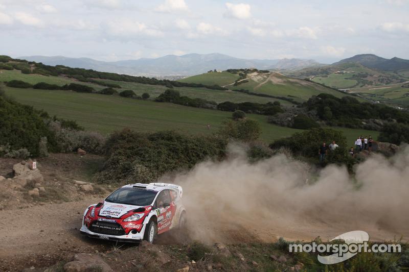 Evgeny Novikov en Denis Giraudet, Ford Fiesta RS WRC