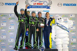 Michelin Green X award: GT winners Ed Brown, Scott Sharp, Johannes van Overbeek, Toni Vilander