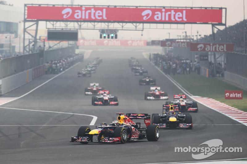 Sebastian Vettel, Red Bull Racing aan de leiding tijdens de formatieronde