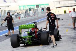 Antonio Felix da Costa, Red Bull Racing Test Driver running new rear wing