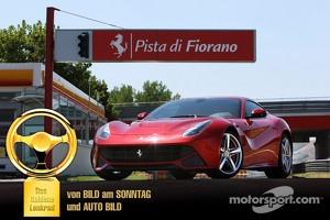 The F12 Berlinetta wins the 2012 Auto Bild Goldenes Lenkrad Award