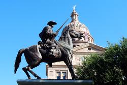 A statue near the Texas Capitol in Austin