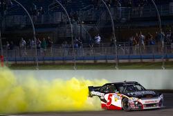 Race winner Regan Smith, JR Motorsports Chevrolet celebrates