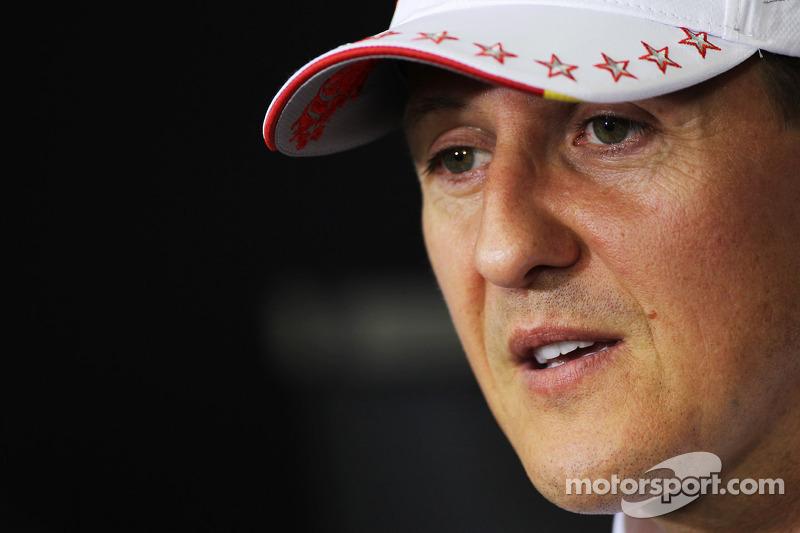 Michael Schumacher, Mercedes AMG F1 en la conferencia de prensa de la FIA