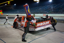 Pit stop for Miguel Paludo, Turner Motorsports Chevrolet