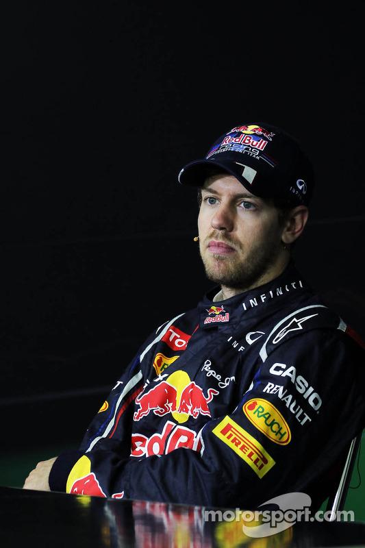 World Champion Sebastian Vettel, Red Bull Racing in the FIA Press Conference