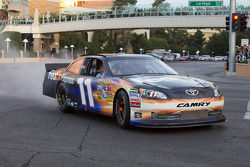 Denny Hamlin does a burnout