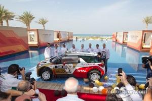 Citroën Total Abu Dhabi World Rally Team launch with Yves Matton, Mikko Hirvonen, Jarmo Lehtinen, Daniel Sordo, Carlos del Barrio and Sébastien Loeb