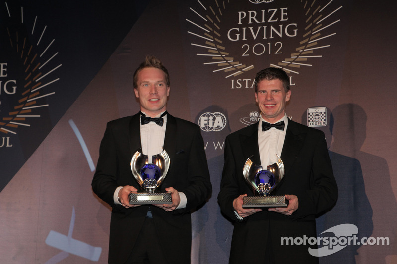 Яри-Матти Латвала и Микка Антила. Церемония награждения FIA, Стамбул, Турция, Особое мероприятие.