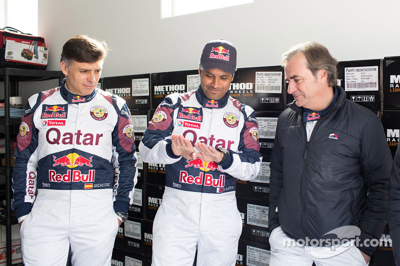 Lucas Cruz, Nasser Al-Attiyah and Carlos Sainz