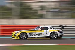 #9 Black Falcon Mercedes SLS AMG: Sean Patrick Breslin, Vimal Mehta, Khaled Al Qubaisi