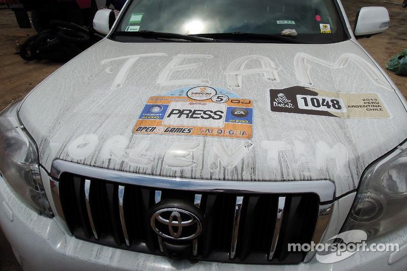 Orlen Team support vehicle