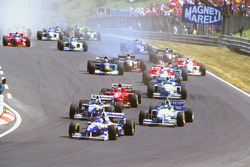 Jacques Villeneuve, Williams FW18 Renault, Damon Hill, Williams FW18 Renault ve Jean Alesi, Benetton B196 Renault