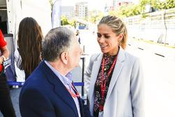 Президент FIA Жан Тодт и Никки Шилдс