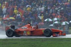 Le vainqueur Rubens Barrichello, Ferrari F1 2000