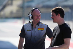 Pirelli engineer and Alan Van Der Merwe, FIA Medical Car Driver