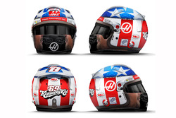 Tributo a Nicky Hayden en el casco de Romain Grosjean