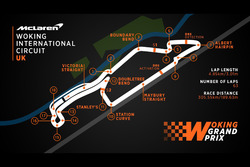 Woking International Circuit mapa de pista