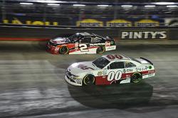 Austin Dillon, Richard Childress Racing Chevrolet, Cole Custer, Stewart-Haas Racing Ford