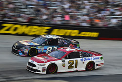 Ryan Blaney, Wood Brothers Racing Ford, Corey LaJoie, BK Racing Toyota