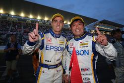 GT500 race winners #64 Nakajima Racing Honda NSX Concept GT: Bertrand Baguette, Kosuke Matsuura